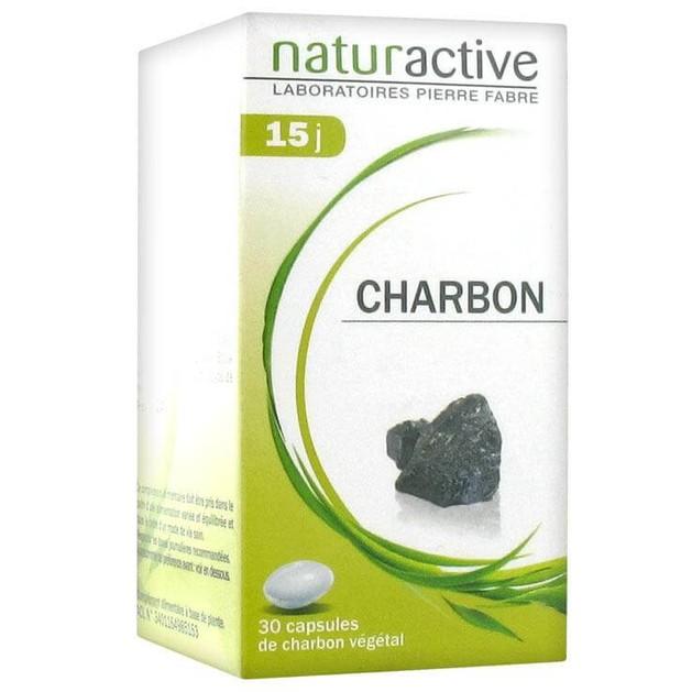 Naturactive Charbon Ενεργός Φυτικός Άνθρακας Κατάλληλος για την Αντιμετώπιση της Κακής Πέψης & του Φουσκώματος 30caps