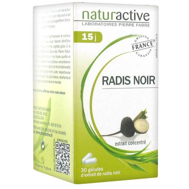 Naturactive Radis Noir Μαύρο Ραπάνι Διευκολύνει την Πέψη σε Συνδυασμό με την Αποτοξινωτική Δράση στο Συκώτι  30caps