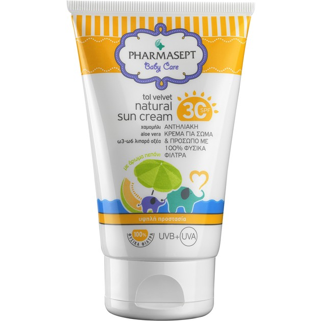 Pharmasept Baby Care Natural Sun Cream Spf30, 100ml