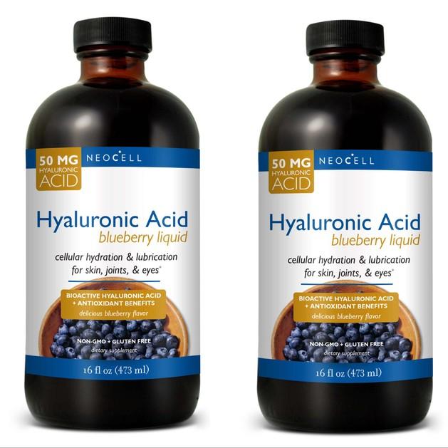 Neocell Liquid Hyaluronic Acid With BlueberryΠόσιμο Υαλουρονικό Οξύ με Μύρτιλο, Βατόμουρο, Βιταμίνη C &Αντιοξειδωτικά 2x473ml