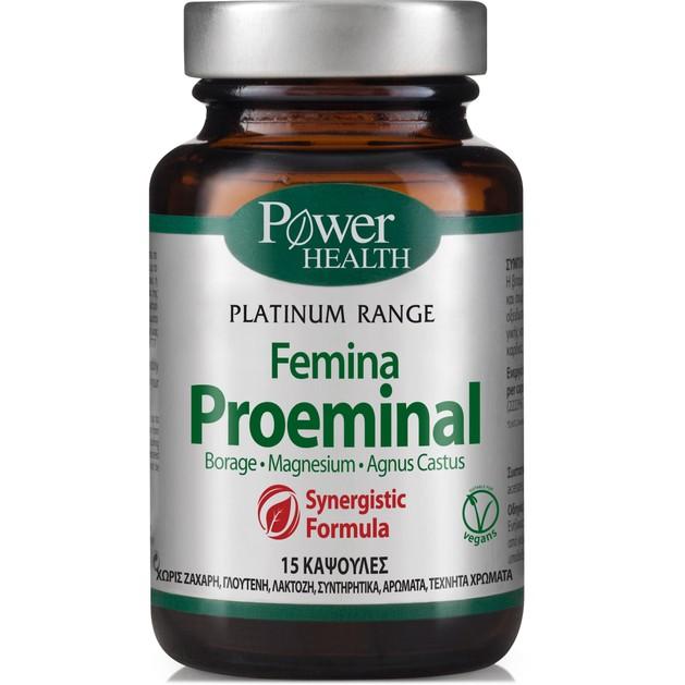 Power Health Platinum Femina Proeminal Συμπλήρωμα Διατροφής για τη Φυσιολογική Λειτουργία του Νευρικού Συστήματος 15 Caps