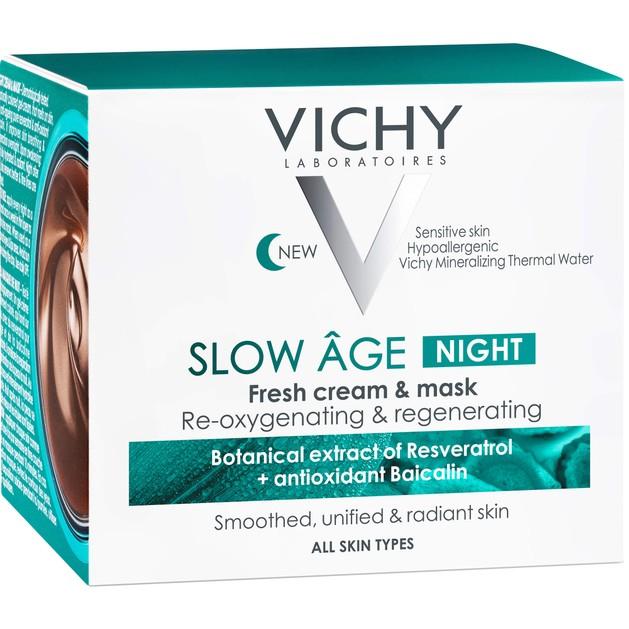 Δώρο Vichy Slow Age Night Fresh Cream & Mask Δροσερή Κρέμα Νύχτας & Μάσκα 2 σε 1 για Όλους τους Τύπους Δέρματος 15ml