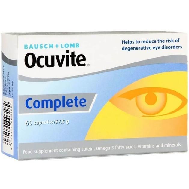 Bausch & Lomb Ocuvite Complete Συμπλήρωμα Διατροφής για την Διατήρηση της Φυσιολογικής Όρασης 60 Caps
