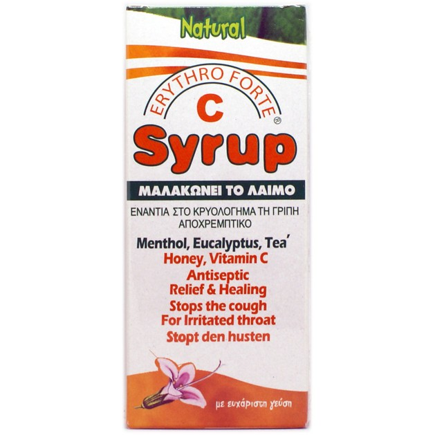 Erythro Forte C Syrup Classic Σιρόπι για το Βήχα & το Πονόλαιμο με Μέλι & Βιταμίνη C 150ml