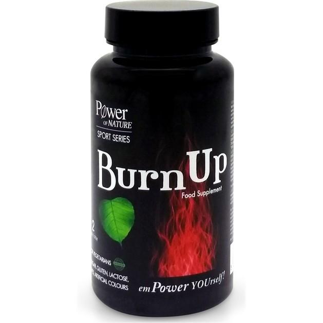 Power of Nature Sport Series BurnUp Συμπλήρωμα Διατροφής που Υποστηρίζει Μεταβολικές Διεργασίες του Οργανισμού 60 Caps