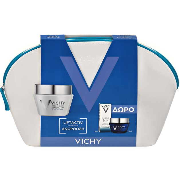 Vichy Πακέτο Προσφοράς Liftactiv Supreme Dry-Very Dry 50ml & Nuit Supreme 15ml & Mineral 89 5ml
