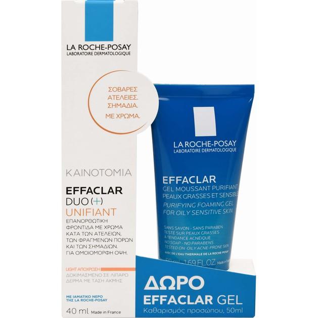 La Roche-Posay Πακέτο Προσφοράς Effaclar Duo (+) Unifiant Light 40ml & Δώρο Effaclar Gel 50ml