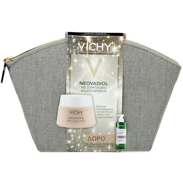 Vichy Πακέτο Προσφοράς Neovadiol Ξηρές Επιδερμίδες 50ml & Δώρο Dercos Nutrients Vitamin A.C.E Ενυδατικό Σαμπουάν Λάμψης 100ml