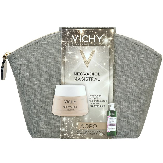 Vichy Πακέτο Προσφοράς Magistral,  Ώριμες Επιδερμίδες 50ml & Δώρο Dercos Nutrients Vitamin A.C.E Ενυδατικό Σαμπουάν Λάμψης 100ml