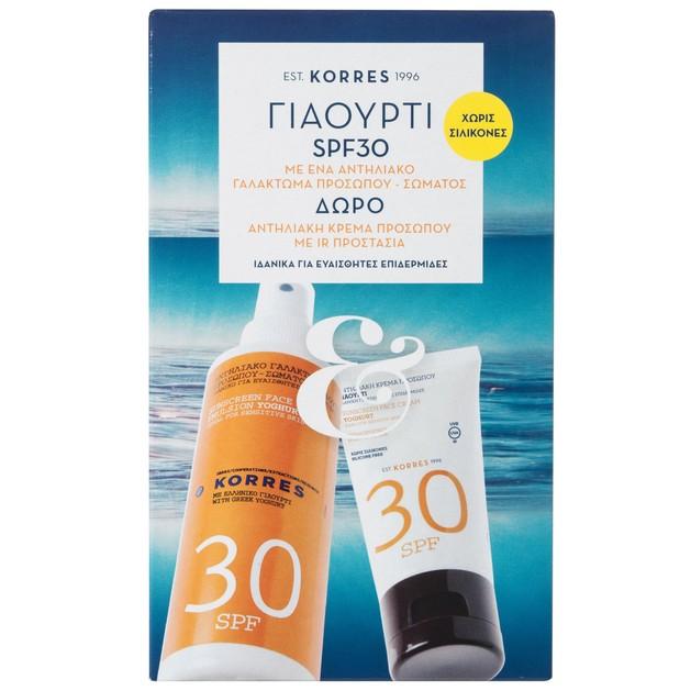 Korres Πακέτο Προσφοράς Face & Body Emulsion Yogurt Spf30 150ml & Δώρο Face Sunscreen Spf30 50ml