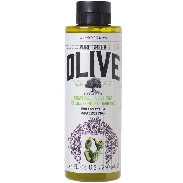 Korres Pure Greek Olive Showergel Cactus Pear Ενυδατικό Αφρόλουτρο με Φραγκόσυκο 250ml
