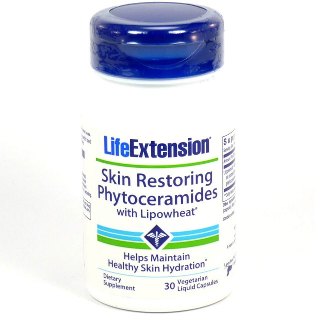 Life Extension Skin Restoring Phytoceramides Συμπλήρωμα Διατροφής, Ισχυρή Φόρμουλα για την Νεανική Όψη του Δέρματος 30 caps