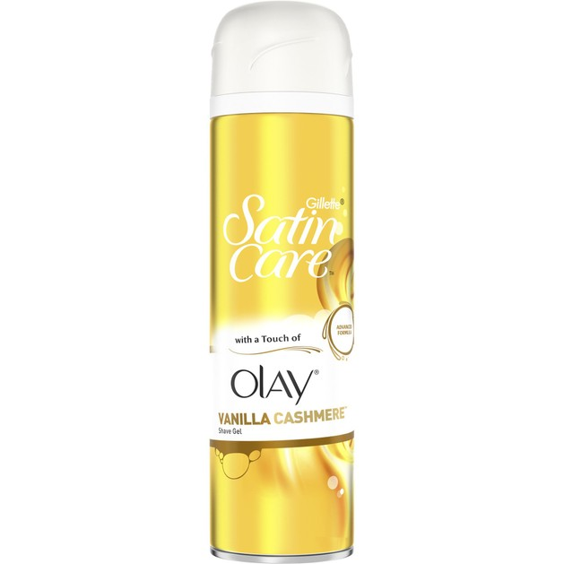 Gillette Satin Care Shave Gel Touch of Olay Vanilla Cashmere Gel Ξυρίσματος με 4x Ενυδατικούς Παράγοντες 200ml