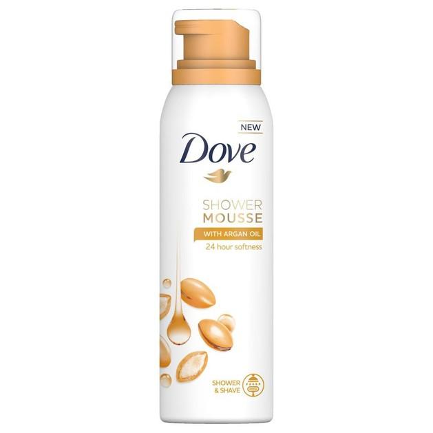 Dove Shower Mousse With Argan Oil Αφρόλουτρο σε Μορφή Αφρού με Έλαιο Argan για 24ωρη Απαλότητα στην Επιδερμίδα 200ml