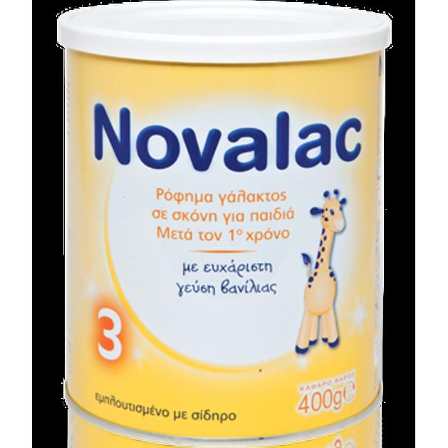 Novalac Νο 3  Ρόφημα Γάλακτος Σε Σκόνη Για Παιδιά Μετά Τον 1o Χρόνο 400gr