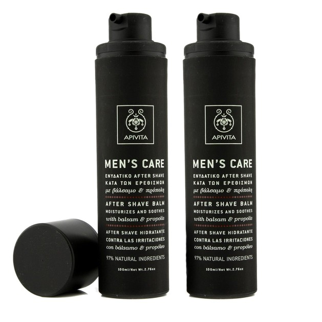 Apivita Πακέτο Προσφοράς Mens Care After Shave Balm With Balsam & Propolis Ενυδατικό After Shave 2x100ml