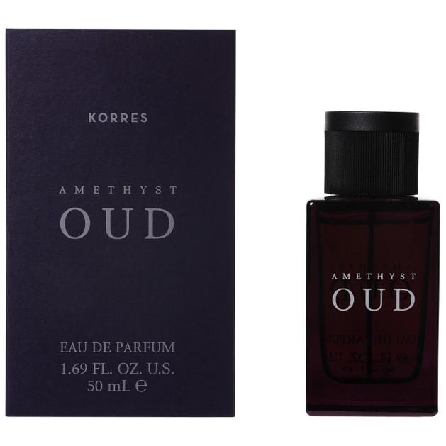 Korres Eau De Parfum Amethyst Oud Γυναικείο Σαγηνευτικό Άρωμα με Νότες από Εσπεριδοειδή,Vetiver Γεράνι & Λεβάντα 50ml