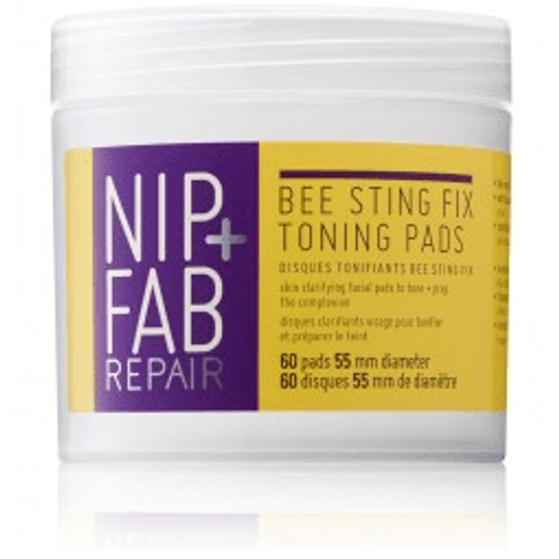 Nip + Fab Bee Sting Fix Toning Pads Εμποτισμένοι Δίσκοι για Βαθύ Καθαρισμό και Τόνωση (60 δίσκοι)