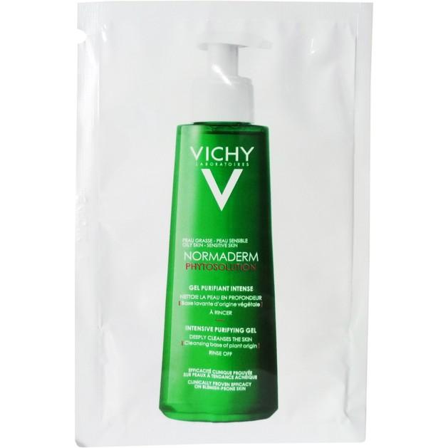 Δείγμα Vichy Normaderm Phytosolution Intensive Purifying Gel Εντατικού Καθαρισμού για Λιπαρές Επιδερμίδες με Τάση Ακμής 7ml