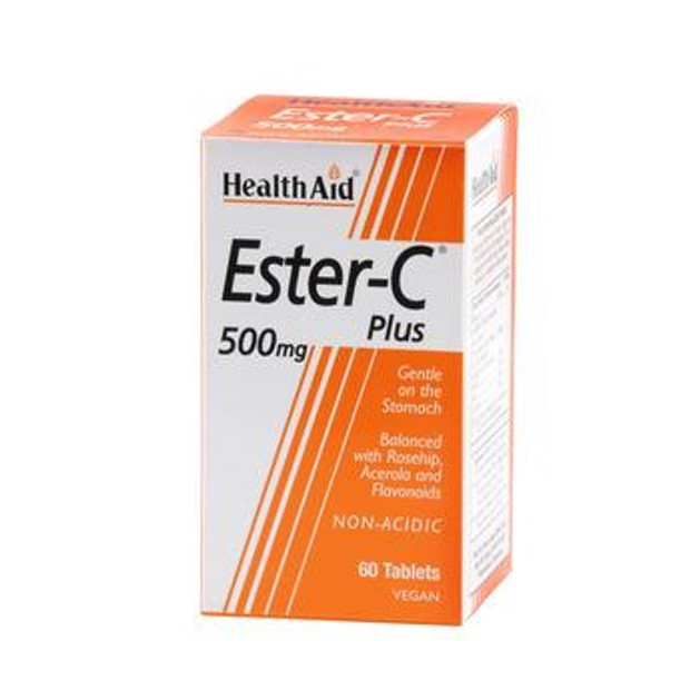 Health Aid Ester - C Plus 500mg With Bioflavonoids 60tabs