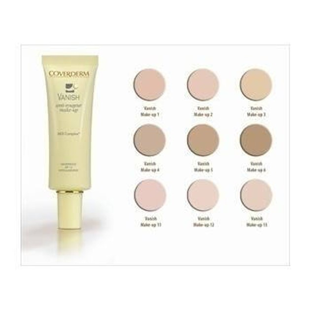 Coverderm Vanish Anti-Rougeur Make Up Spf15 Αδιάβροχο, Μακράς Διάρκειας make-up 30ml
