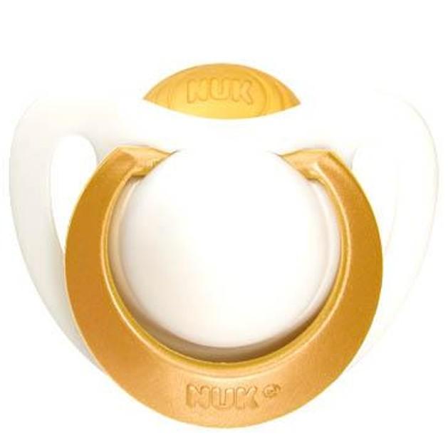Nuk Genius Orthodontic Plus Ορθοδοντική Πιπίλα Από Φυσικό Καουτσούκ με Κρίκο Χωρίς BPA