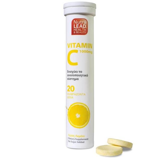 Βιταμίνη C 1000mg 20 Αναβρ. Δισκία - NutraLead