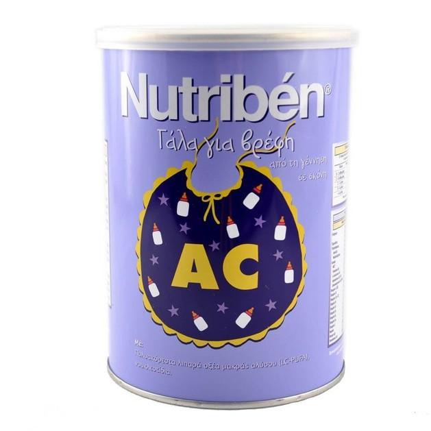 Nutriben AC Γάλα Για Βρέφη Από Την Γέννηση Σε Σκόνη Ειδικό Για Κολικούς 400gr