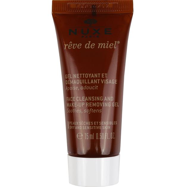 Δώρο Nuxe Reve De Miel Gel Nettoyant et Demaquillant - Απαλό Gel Καθαρισμού για το Πρόσωπο 15ml