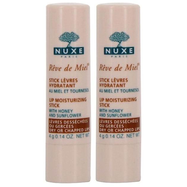 Nuxe Πακέτο Προσφοράς Reve de Miel Stick Levres Lip Moisturizing Stick Ενυδάτωση Χειλιών με -50% στο 2ο Προιόν 2 x 4gr