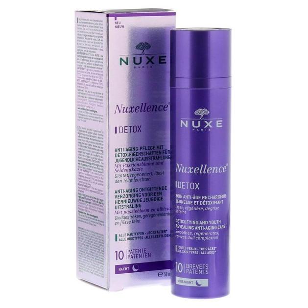 Nuxe Nuxellence Detox Αντιγηραντική Κρέμα-Ορός Νύχτας για Όλους τους Τύπους Επιδερμίδας Προσφορά -30% 50ml