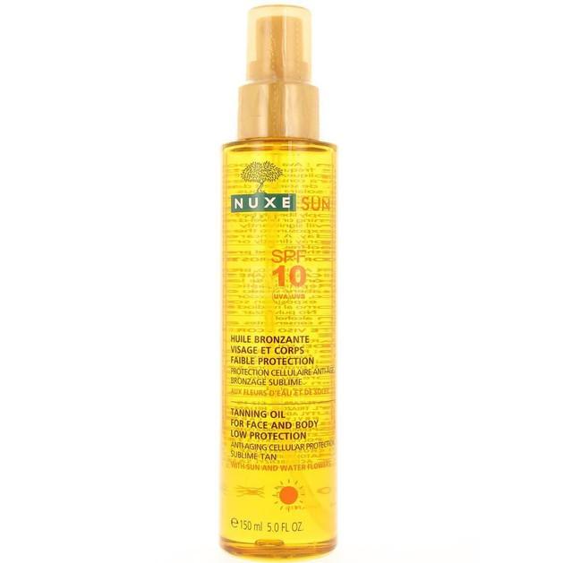 Δώρο Nuxe Sun Tanning Oil - Λάδι Μαυρίσματος για Πρόσωπο & Σώμα Spf10 150ml