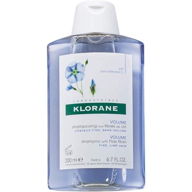 Klorane Volume Shampoo with Flax Fiber Σαμπουάν με Ίνες Λιναριού για Κράτημα & Όγκο -25%, 200ml