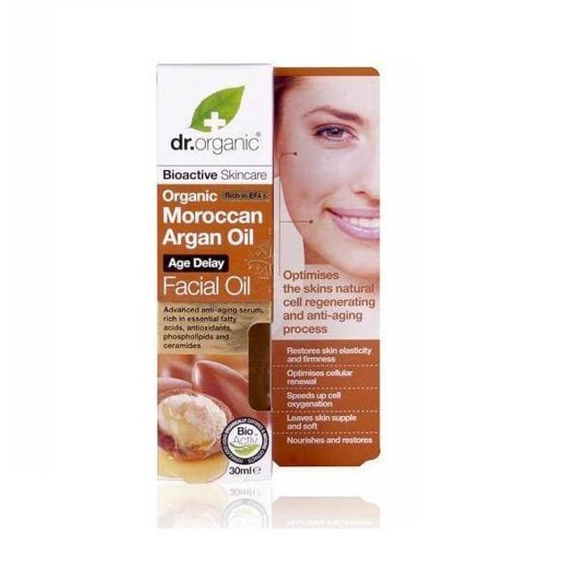 Dr.Organic Moroccan Argan Oil Age Delay Facial Oil 30ml