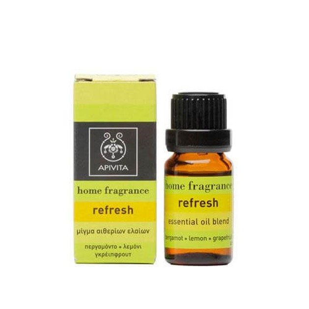 Apivita Essential Oil Blend Refresh Με Περγαμόντο & Λεμόνι 10ml