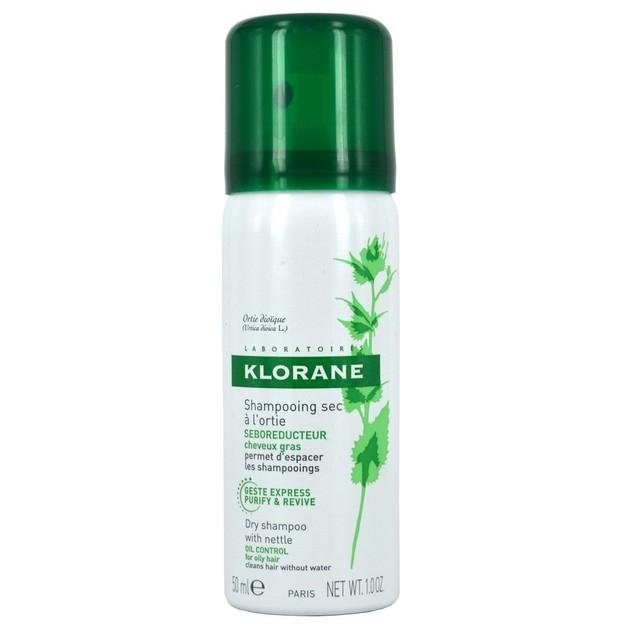 Δώρο Klorane Shampooing Sec a l Ortie Ξηρό Σαμπουάν με Τσουκνίδα για Λιπαρά Μαλλιά 50ml