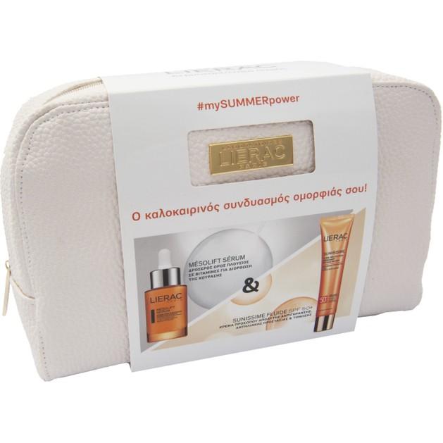 Lierac Πακέτο Προσφοράς Mesolift Serum Αντιγηραντικός Ορός Λάμψης Προσώπου 30ml & Sunissime Fluide Protecteur Spf50+, 40ml