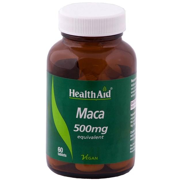 Health Aid Maca 500mg Συμπλήρωμα Διατροφής, Εκχύλισμα Υψηλής Ποιότητας Βοτάνου για την Τόνωση & Ευεξία του Οργανισμού 60 Tabs