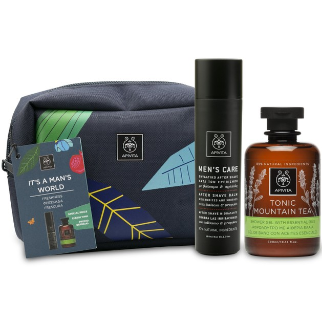 Apivita Mens Care After Shave Balm Ενυδατικό After Shave Κατά των Ερεθισμών 100ml & Tonic Mountain Tea Shower Gel 300ml