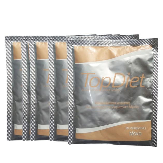 Δώρο Power Health Top Diet Moca Υποκατάστατο Γεύματος για τον Έλεγχο του Σωματικού Βάρους με Γεύση Μόκα 5sachets x 35gr