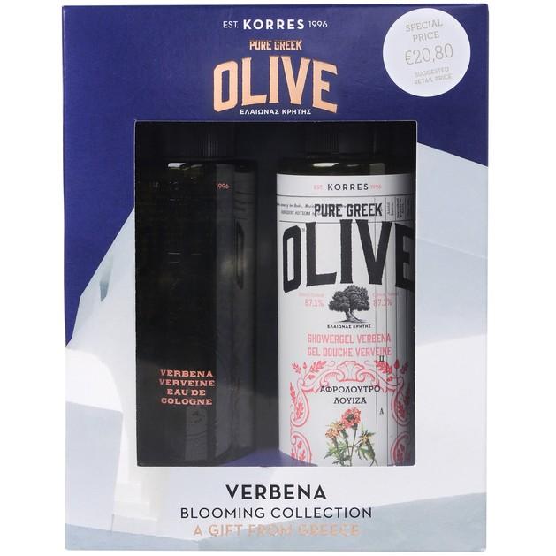 Korres Πακέτο Προσφοράς Olive Verbena Showergel 250ml & Δώρο Olive Verbena Eau De Cologne 100ml