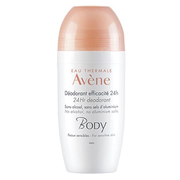 Avene Body Deodorant Roll-On Efficacite 24h, 50ml