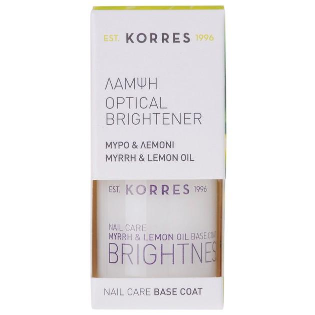 Korres Optical Brightener Nail Care Base Coat 10ml