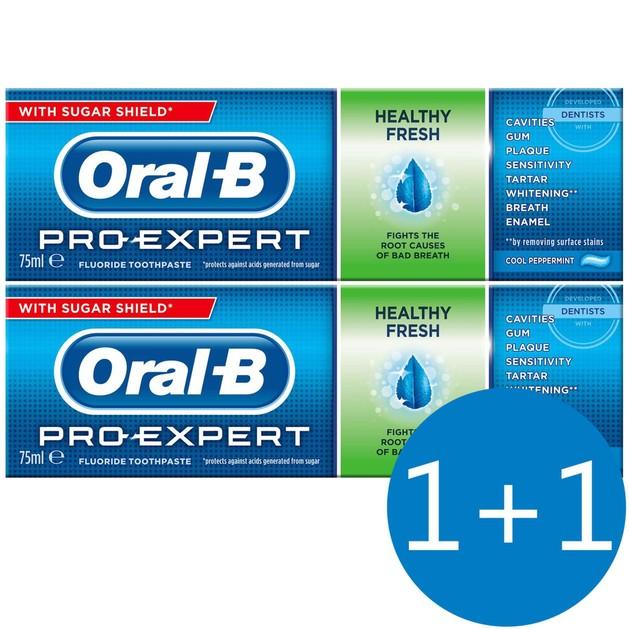 Oral B Πακέτο Προσφοράς Pro Expert Healthy Fresh 75ml 1+1 Δώρο