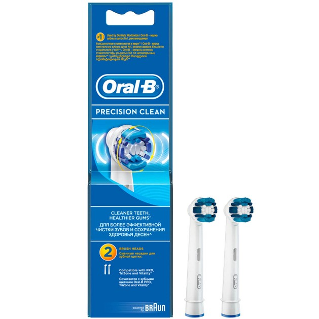 Precision Clean Ανταλλακτικές Κεφαλές Βουρτσίσματος 2 τεμάχια - Oral-B