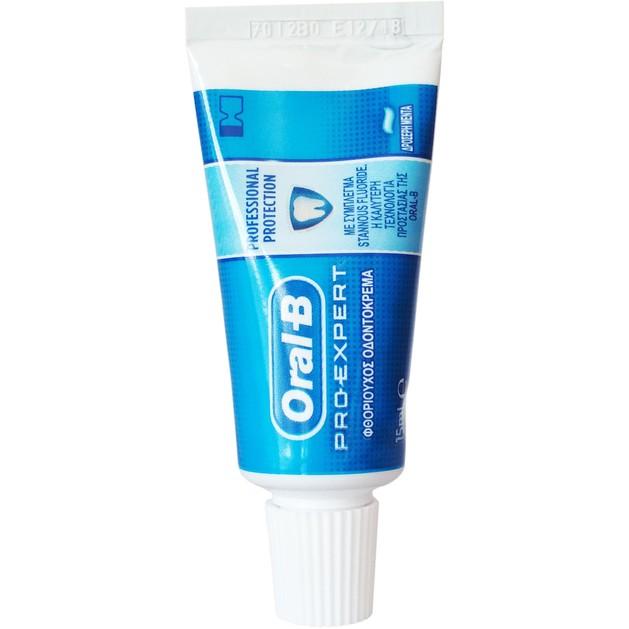 Δώρο Oral-B Pro-Expert Thoothpaste Οδοντόκρεμα Πολλαπλής Προστασίας με Δροσερή Γεύση Μέντας 15ml