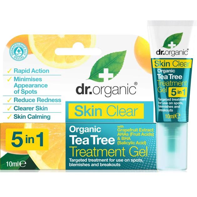 Dr Organic Skin Clear Organic Tea Tree Treatment Gel,Μειώνει τις Κηλίδες & τα Μαύρα Στίγματα 10ml