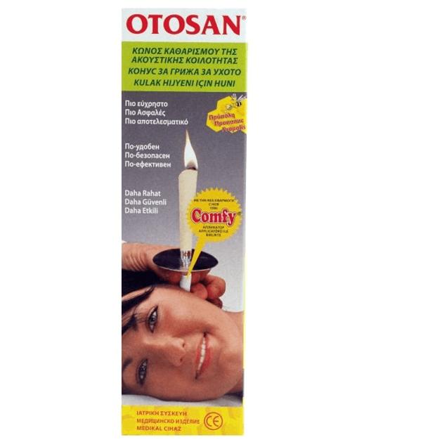 Otosan Comfy Family Κώνος Καθαρισμού Της Ακουστικής Κοιλότητας Με Πρόπολη 6τεμάχια