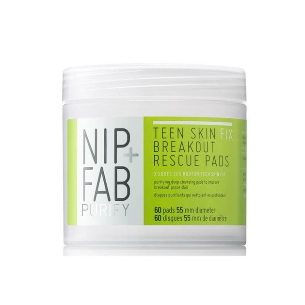 Nip+Fab Purify Teen Skin Fix Breakout Rescue Pads  Για Βαθύ Καθαρισμό Απομακρύνουν Λιπαρότητα Και Ρύπους 60pads