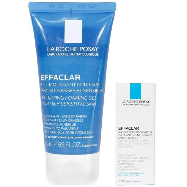 Δώρο  La Roche-Posay Effaclar Gel Moussant Purifiant 50ml & Effaclar Mask Μάσκα Προσώπου με Άργιλο 3ml